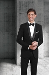 SLIM FIT WOOL SHAWL MEN'S BLACK TUXEDO JACKET