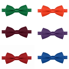 Satin Solid Color Bow Ties