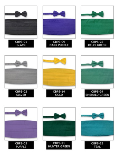 NAVY BLUE Cummerbund Bow Tie Premiere Satins Tuxedo Set New CBPS-37