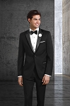 SLIM FIT WOOL PEAK MEN'S BLACK TUXEDO JACKET