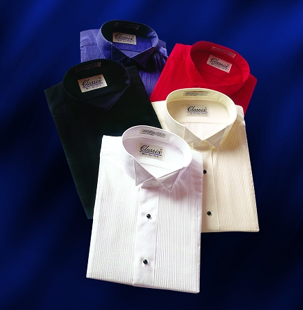 Men's Color Tuxedo Shirts