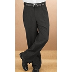 NEIL ALLYN BLACK CAREER BASICS PLEATED DRESS PANTS - MEN'S & BOY'S