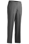 HEATHER GREY POLYESTER FLAT FRONT DRESS PANTS - WOMEN'S