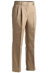 TAN UTILITY PLEATED FRONT CHINO PANT - WOMEN'S