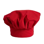 RED CLASSIC POPLIN CHEF HAT