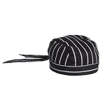 CHALK STRIPE COTTON SKULL CAP