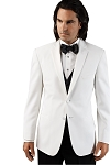 """10116W"" NOTCH MEN'S WHITE TUXEDO JACKET"