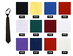 NEIL ALLYN FORMAL SATIN PRE-TIED WINDSOR TIE - ASSORTED COLORS