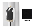 NEIL ALLYN FORMAL SATIN FULL BACK VEST - MEN'S BLACK