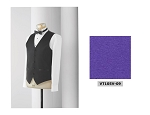 NEIL ALLYN FORMAL SATIN COLOURS FULL BACK VEST - MEN'S DARK PURPLE