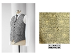 NEIL ALLYN JAZZ PAISLEY FULLBACK VEST - MEN'S GOLD