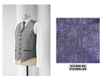 NEIL ALLYN JAZZ PAISLEY FULLBACK VEST - MEN'S PURPLE
