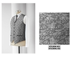 NEIL ALLYN JAZZ PAISLEY FULLBACK VEST - MEN'S SILVER