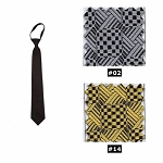 NEIL ALLYN GEOMETRIC PRE-TIED WINDSOR LONG TIE - ASSORTED COLORS