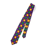 MARDI GRAS WINDOW PANE STRAIGHT 4-IN-HAND TIE