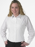 FITTED LONG SLEEVE WOMEN'S WHITE DRESS SHIRT
