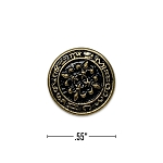 Brass Tone Blazer Sleeve Button #2011B-24