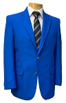 NEIL ALLYN ROYAL BLUE CAREER BASICS POLYESTER BLAZER JACKET