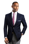 NEIL ALLYN NAVY BLUE CAREER BASICS POLYESTER BLAZER JACKET
