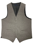 NEIL ALLN GREY POLYESTER CAREER VEST - MEN'S