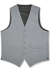 NEIL ALLYN MEDIUM HEATHER GREY WOVEN POLY VEST - MEN'S