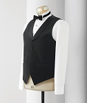 """CLASSIC"" LAPELED MEN'S BLACK SERVER VEST"