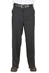 NEIL ALLYN CAREER BASICS BLACK FLAT FRONT DRESS PANTS - MEN'S