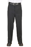 NEIL ALLYN CAREER BASICS BLACK FLAT FRONT SECURITY PANTS - MEN'S