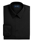 NEIL ALLYN FITTED BLACK LONG SLEEVE MEN'S DRESS SHIRT