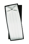 SILK WHITE CUMMERBUND AND BOW TIE SET