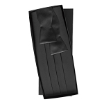 SILK SELF TIE BLACK CUMMERBUND AND BOW TIE SET