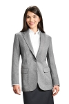 NEIL ALLYN GREY CAREER BASICS BLAZER JACKET - WOMEN'S
