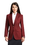 NEIL ALLYN BURGUNDY CAREER BASICS BLAZER JACKET - WOMEN'S