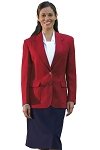 NEIL ALLYN RED CAREER BASICS BLAZER JACKET - WOMEN'S