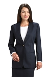 NEIL ALLYN NAVY BLUE CARDIGAN BLAZER JACKET - WOMEN'S
