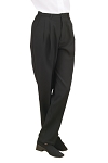 NEIL ALLYN BLACK CAREER BASICS PLEATED PANTS - WOMEN'S