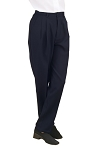 NEIL ALLYN CAREER BASICS NAVY PLEATED DRESS PANTS - WOMEN'S