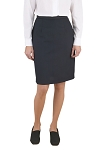 NEIL ALLYN BLACK COMFORT POLYESTER BELOW THE KNEE DRESS SKIRT