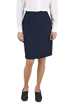 "NEIL ALLYN ""CAREER BASICS"" WOMEN'S NAVY BLUE DRESS SKIRT - BELOW THE KNEE"