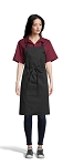 BLACK CLASSIC BIB APRON - NO POCKETS