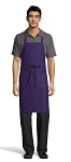 PURPLE CLASSIC BIB APRON - NO POCKETS