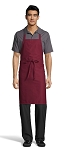 BURGUNDY CLASSIC BIB APRON - NO POCKETS
