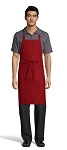 RED CLASSIC BIB APRON - NO POCKETS