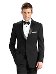 NEIL ALLYN BLACK COMFORT POLYESTER NOTCH TUXEDO PACKAGE w/ ADJUSTABLE WAIST PANTS