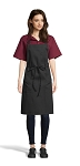 BLACK PENCIL PATCH POCKET BIB APRON - 2 POCKETS