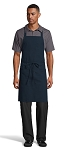 NAVY PENCIL PATCH POCKET BIB APRON - 2 POCKETS