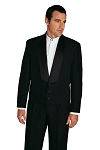 NEIL ALLYN BLACK COMFORT STRETCH THREE BUTTON ETON JACKET - MEN'S