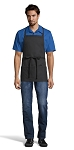 BLACK ADJUSTABLE BIB APRON - 3 POCKETS