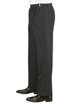NEIL ALLYN BLACK WOOL PLEATED ADJUSTABLE TUXEDO PANTS