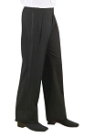 NEIL ALLYN POLYESTER WOMEN'S BLACK TUXEDO PANTS - PLEATED
